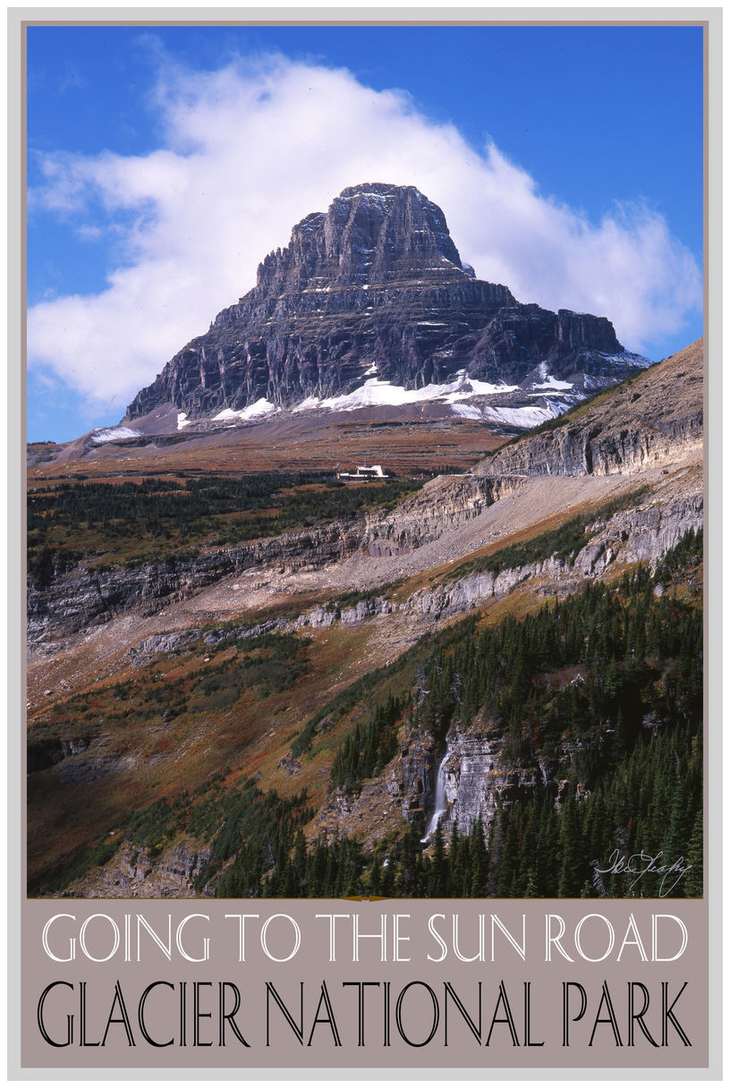 Glacier National Park Going To The Sun Road Mountains Giclee Art Print Poster by Ike Leahy