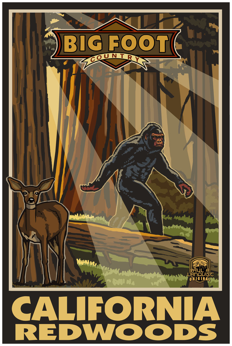 California Redwoods Big Foot Country Giclee Art Print Poster by Paul A. Lanquist