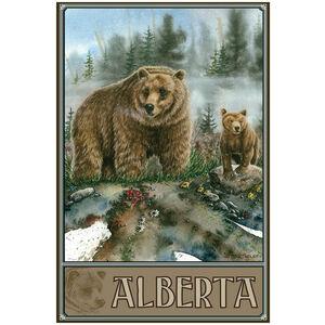 Alberta Canada Grizzly Bear and Cub