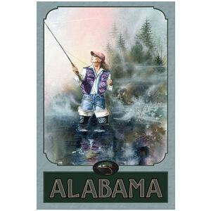 Alabama Woman Fly Fishing