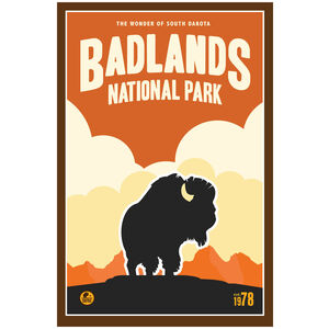 Badlands National Park, South Dakota Bison