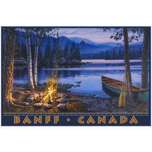 Banff Canada Lake Canoe Fire