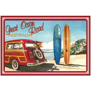 Great Ocean Road Australia Woodie Car & Surfboards