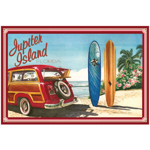 Jupiter Island Florida Woodie Car & Surfboards