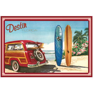 Destin Florida Woodie Car & Surfboards