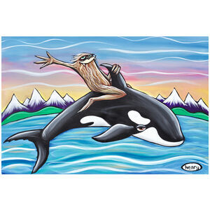 Sasquatch Riding Orca