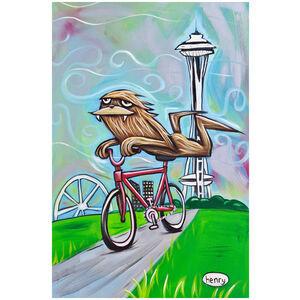 Sasquatch Riding Bike in Seattle