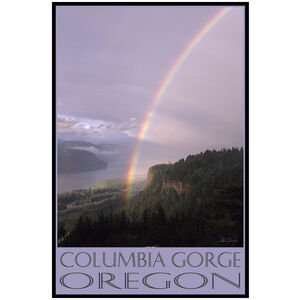Columbia Gorge Oregon Vista House Rainbow