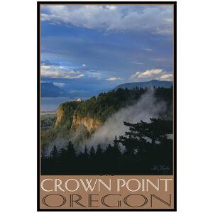 Crown Point Oregon Vista House Fog