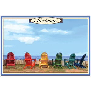 Mackinac Island, Michigan Adirondack Chairs