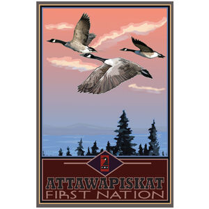 Attawapiskat First Nation Canadian Geese Flying