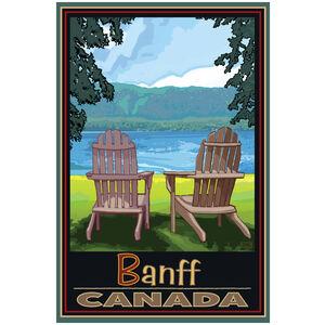 Banff Canada Adirondack Chairs Lake