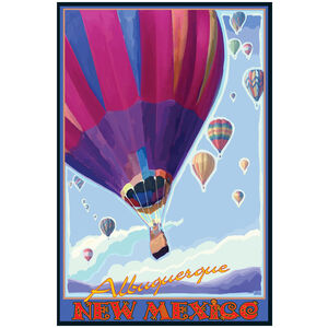 Albuquerque New Mexico Hot Air Balloons Purple