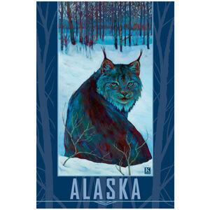 Alaska Lynx in Snow