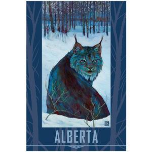 Alberta Lynx in Snow
