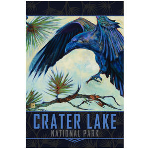 Crater Lake National Park Alighting Raven