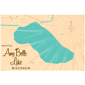 Amy Belle Lake Wisconsin Map Map