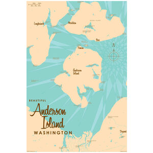Anderson Island Washington Map