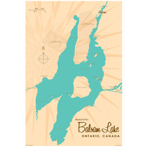 Balsam Lake Ontario Map