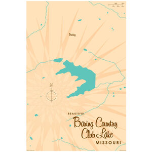 Baring Country Club Lake Missouri Map