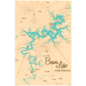 Beaver Lake Arkansas Map