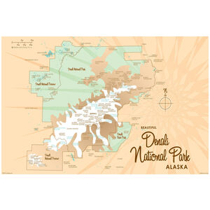 Denali National Park Alaska Map