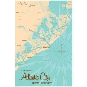 Atlantic City New Jersey Map
