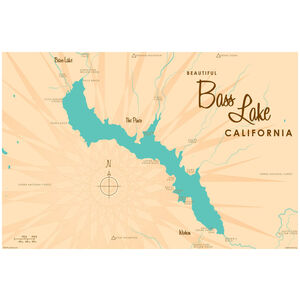 Bass Lake California Map