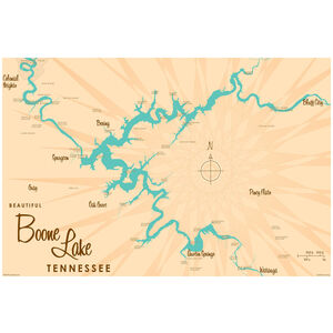 Boone Lake Tennessee Map