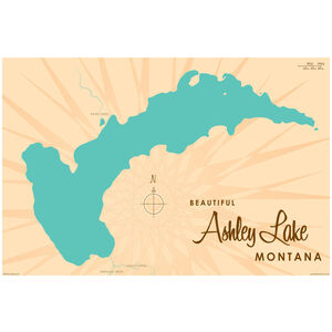 Ashley Lake Montana Map
