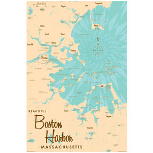 Boston Harbor Massachusetts Map