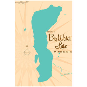 Big Watab Lake Minnesota Map