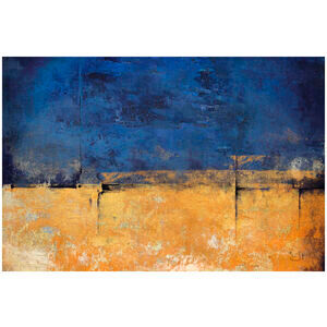 Blue & Gold Abstract Painting