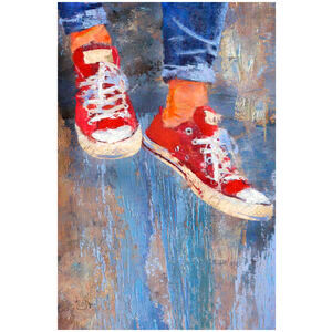 Red Tennies (Painting)