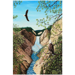 Eagles near Yellowstone Falls