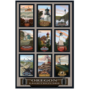 Oregon Lighthouse Collage
