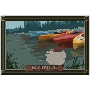 Banff National Park Kayaks In Moonlight