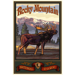 Rocky Mountain National Park Baying Moose Side Mountains