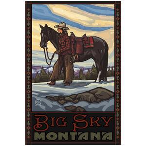 Big Sky Montana Cowgirl & Horse