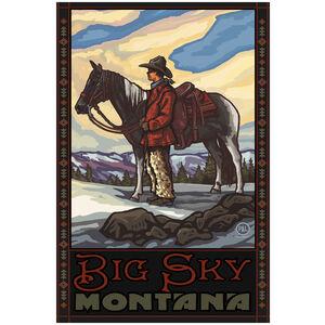 Big Sky Montana Cowboy & Horse