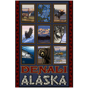 Denali Alaska Collage