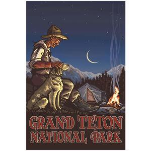 Grand Teton National Park Camper And Dog
