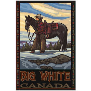 Big White Canada Cowgirl & Horse