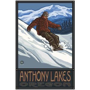 Anthony Lakes Oregon Snowboarder Edge