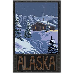 Alaska Winter Mountain Cabin