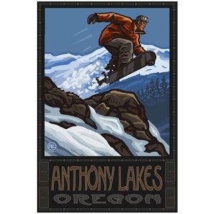 Anthony Lakes Oregon Snowboarder Jumping