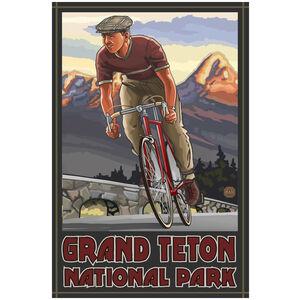 Grand Teton National Park Downhill Biker Sunset
