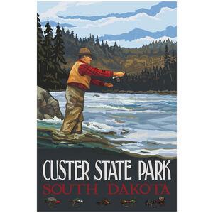 Custer State Park South Dakota Fly Fisherman Stream Hills