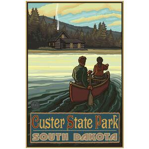 Custer State Park South Dakota Lake Canoers Hills