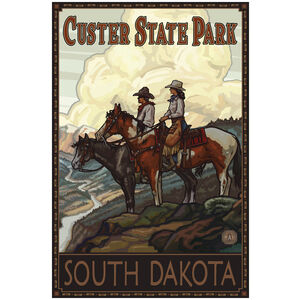 Custer State Park South Dakota Two Horse Riders